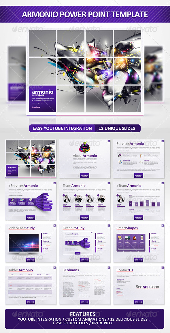 create powerpoint presentation graphics in photoshop, Presentation templates
