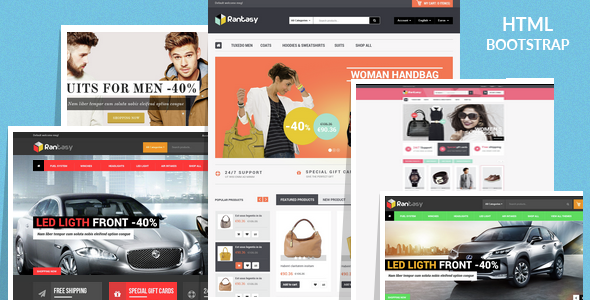 Rantasy - Multipurpose eCommerce Bootstrap Template - Shopping Retail