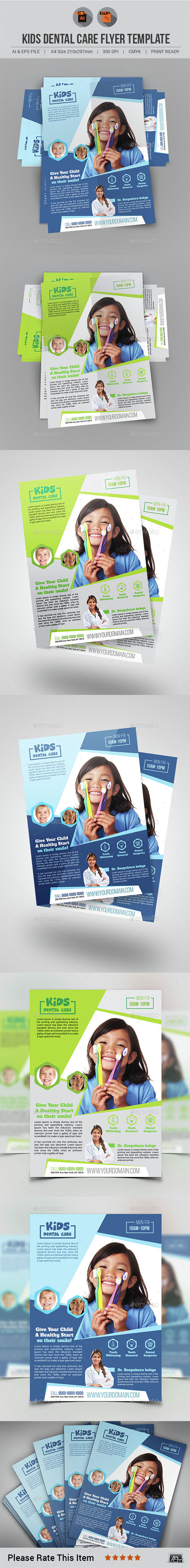 Kids Dental Care Flyer - Corporate Flyers