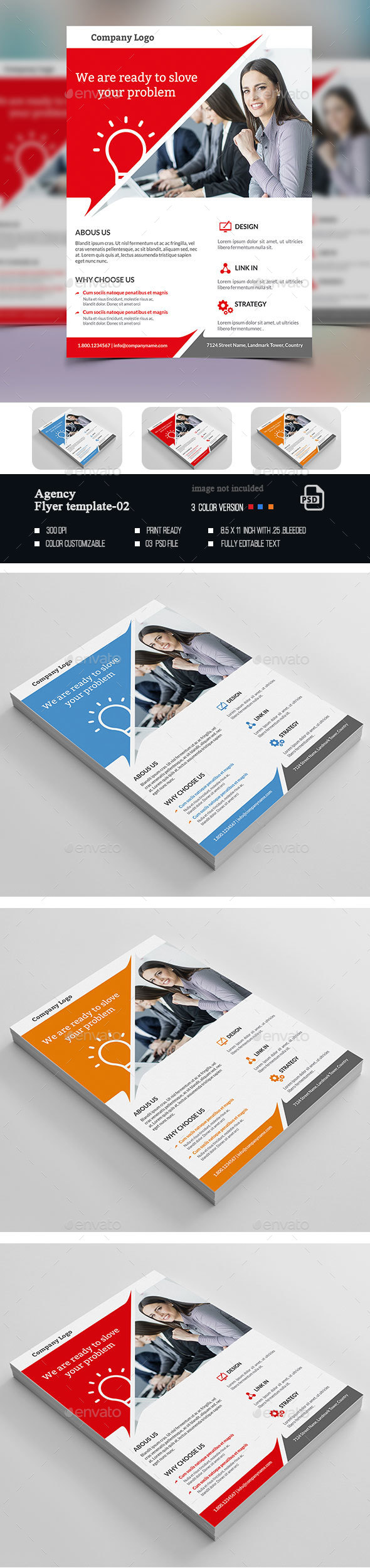 Agency Business Flyer-02 - Flyers Print Templates