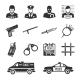 Police and Thieves Icons - GraphicRiver Item for Sale