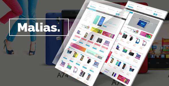 Malias- eCommerce Bootstrap Template - Electronics Technology