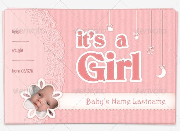 baby girl announcement templates koni polycode co