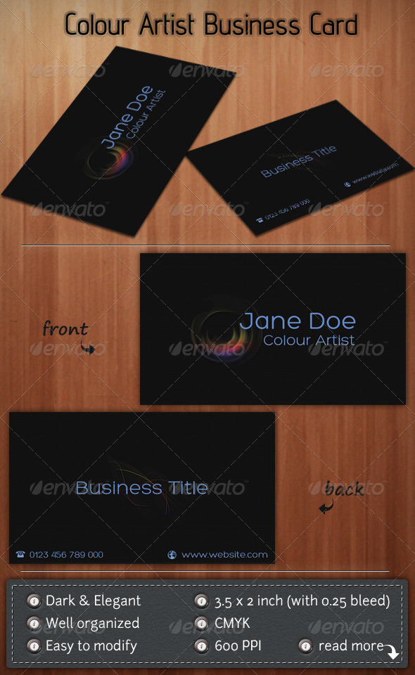 Colour Artist - Creative Business Cards