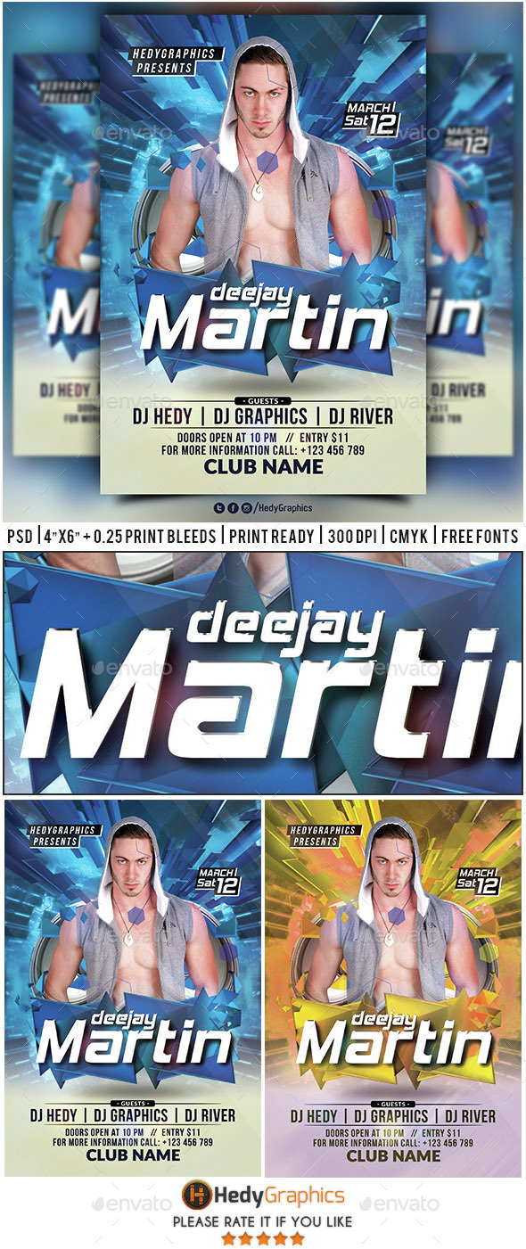 Guest Dj & Artist - Flyer Template - Events Flyers