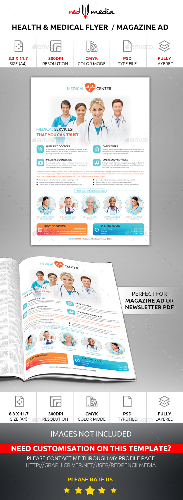 Health and Medical Flyer / Magazine AD - Corporate Flyers