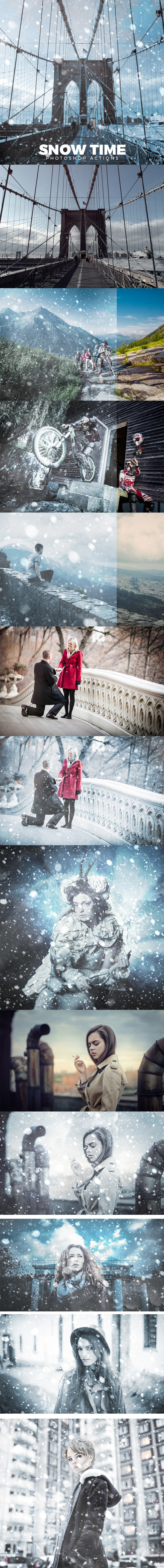 Snow Time Photoshop Action - Photo Effects Actions