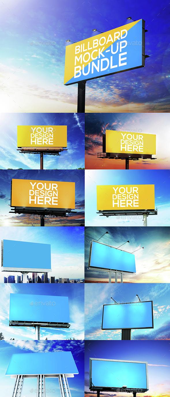 Billboard Mock-Up Bundle - Signage Print
