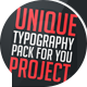 Unique Typography - VideoHive Item for Sale
