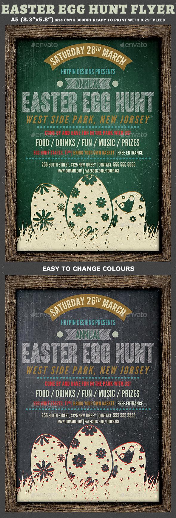 Easter Egg Hunt Flyer Template - Holidays Events