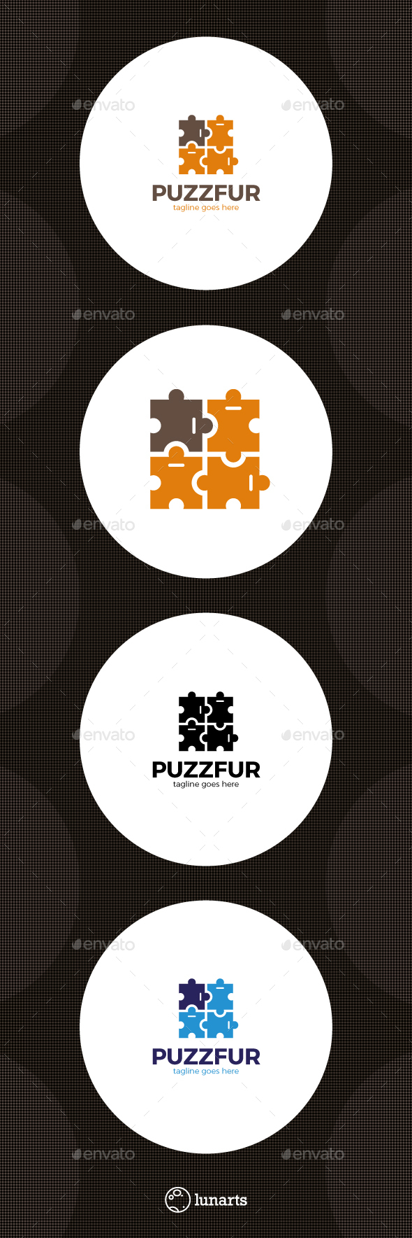 Puzzle Furniture Logo - Abstract Logo Templates