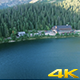 Aerial Shot Above Mountain Lake In Nature - VideoHive Item for Sale