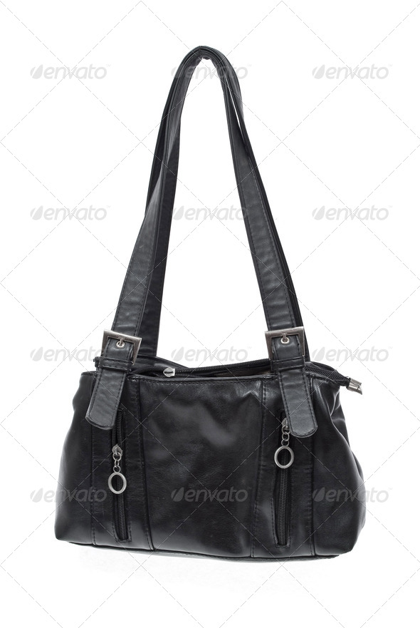 Old black bag - Stock Photo - Images