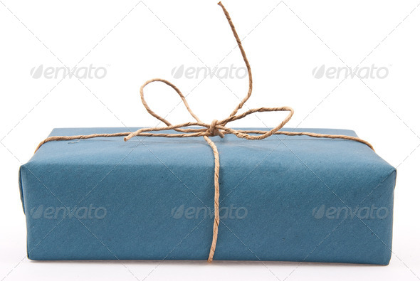 Carton box post package - Stock Photo - Images