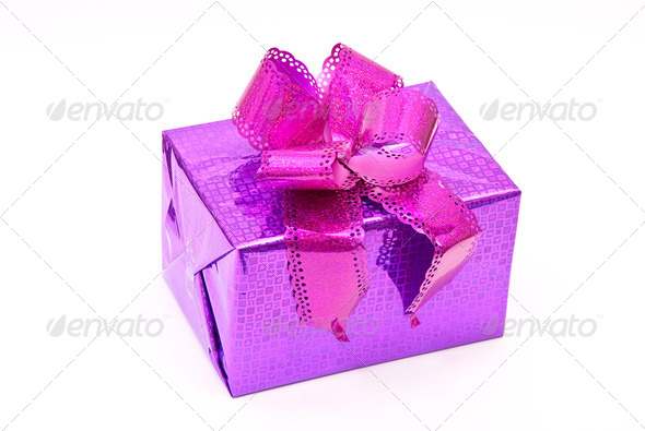 Gift box with bow - Stock Photo - Images
