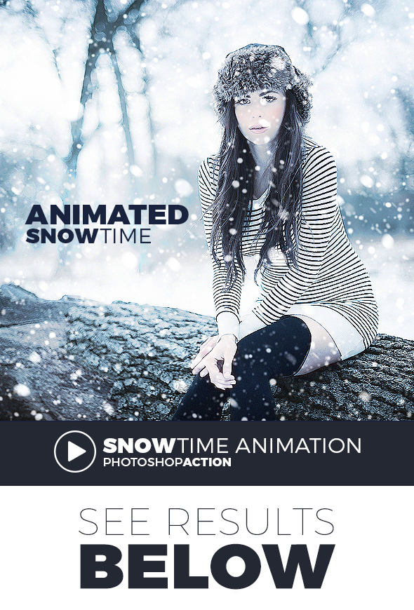 Gif Animated Snow Action - Photo Effects Actions