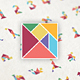 Mega Tangram Set (75 x 8 Colors) - GraphicRiver Item for Sale