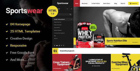 Sportwear – Multi Store Responsive HTML Template
