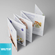 Square Mini Brochure Seven Panel Mockups - GraphicRiver Item for Sale