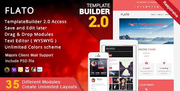 Flato - Responsive Email + MailBuild Online - Newsletters Email Templates