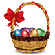 Basket with Colorful Eggs - GraphicRiver Item for Sale