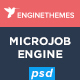 MicrojobEngine - Micro Job Marketplace PSD Template Nulled