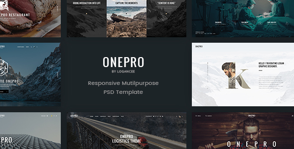 OnePro – Creative Multipurpose PSD Template