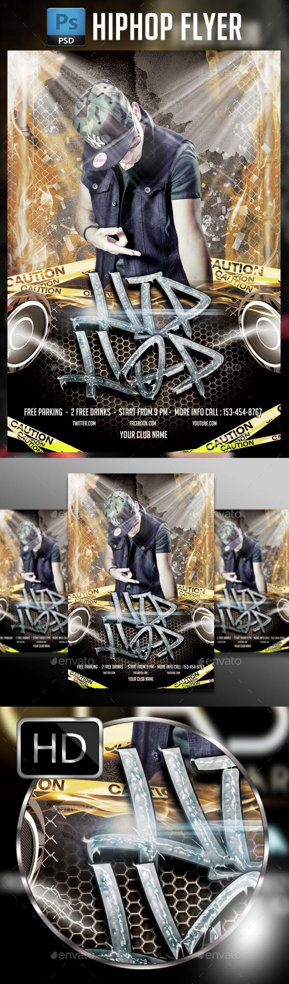 Hip Hop Flyer Template - Events Flyers