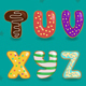 Alphabet Donuts - GraphicRiver Item for Sale
