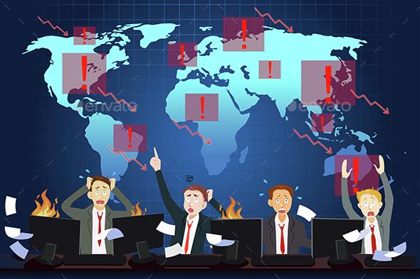 Global Economic Crisis Concept - Concepts Business
