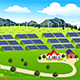 Wind Turbines and Solar Panels Farm - GraphicRiver Item for Sale