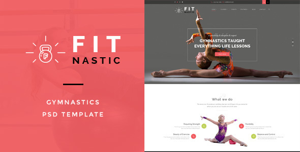 Fitnastic – Gymnastic PSD Template