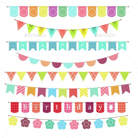 Banner of Birthday - Decorative Symbols Decorative