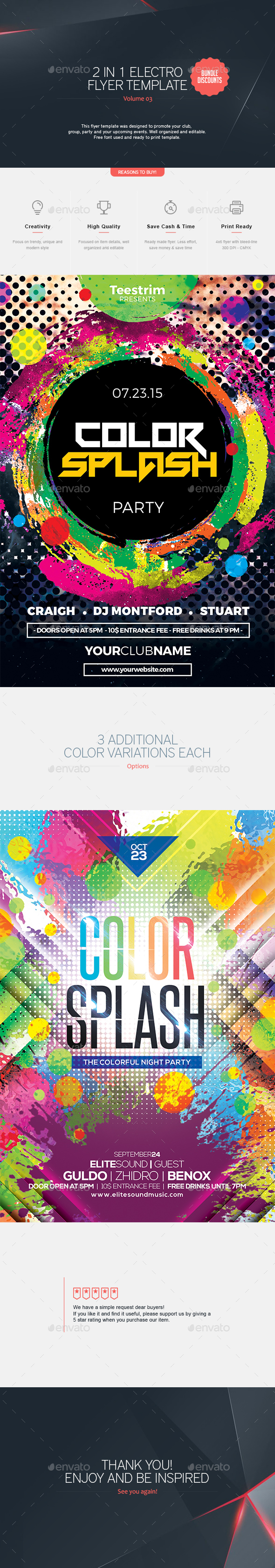 2 in 1 - Electro Flyer  V.3 - Clubs & Parties Events