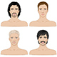 Men  with Different Hairstyles - GraphicRiver Item for Sale