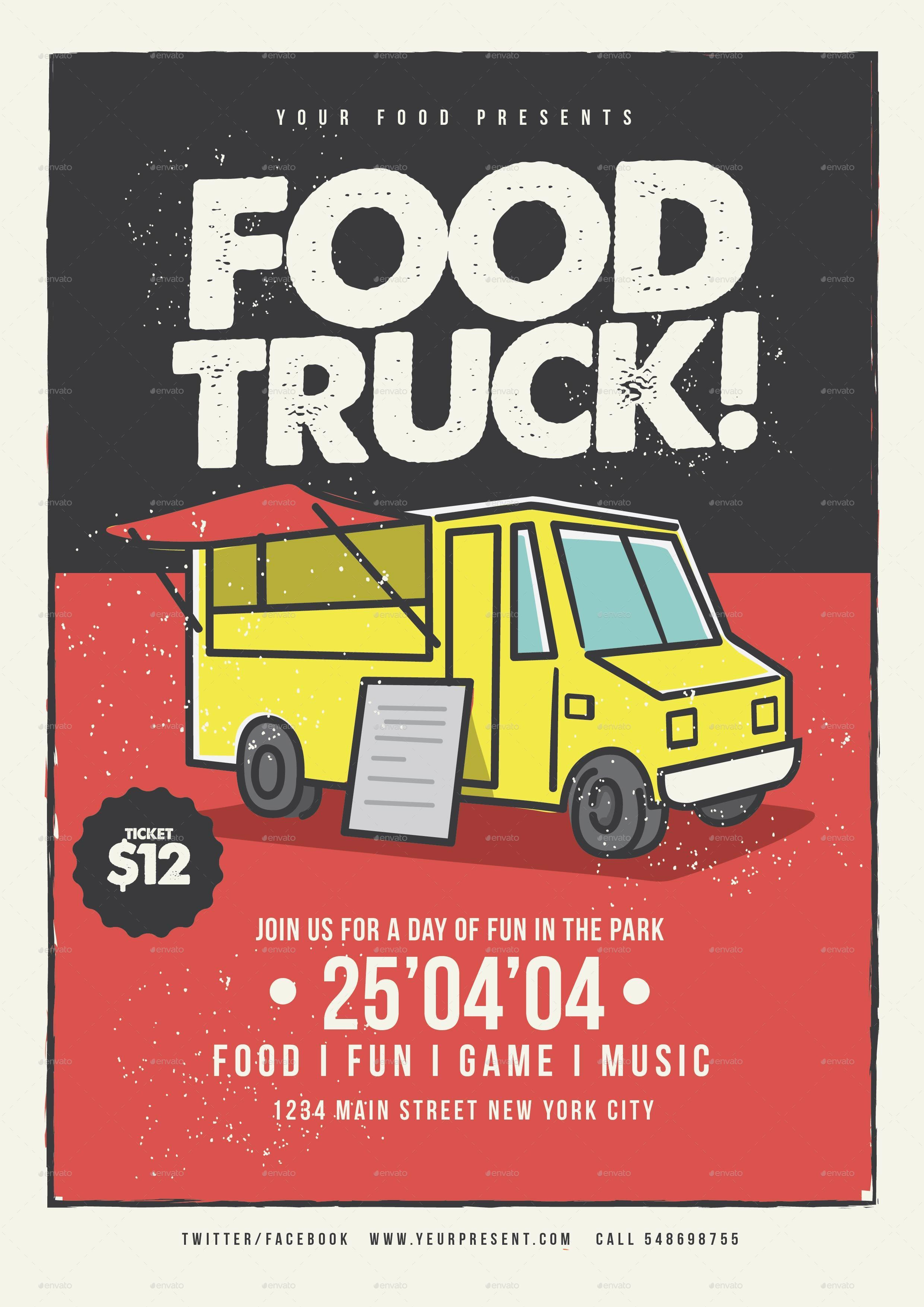 food truck flyer by lilynthesweetpea graphicriver. Black Bedroom Furniture Sets. Home Design Ideas
