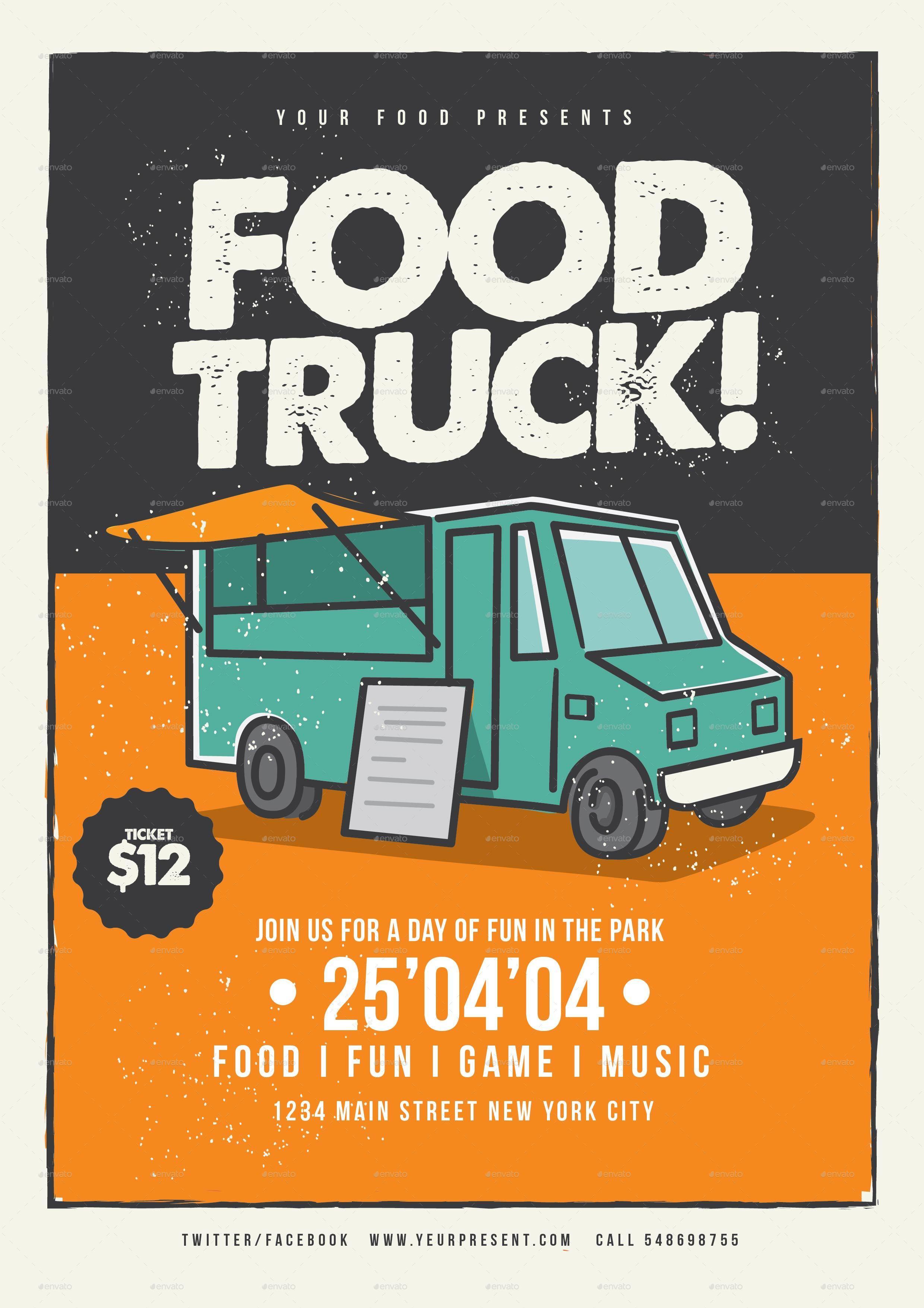 Food Truck Flyer Template Maggilocustdesignco - Food truck flyer template