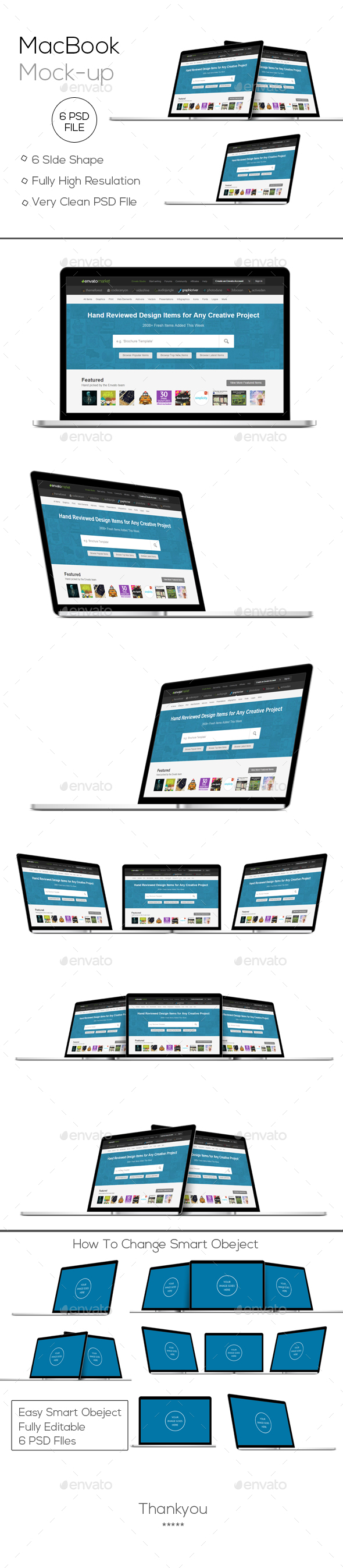 Macbook Mockup - Laptop Displays