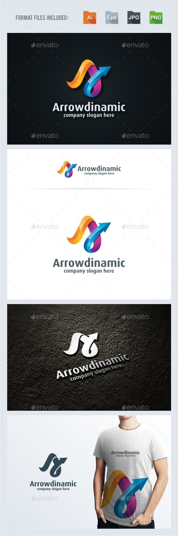 A Letter - Dinamic Arrow Logo Template - Letters Logo Templates
