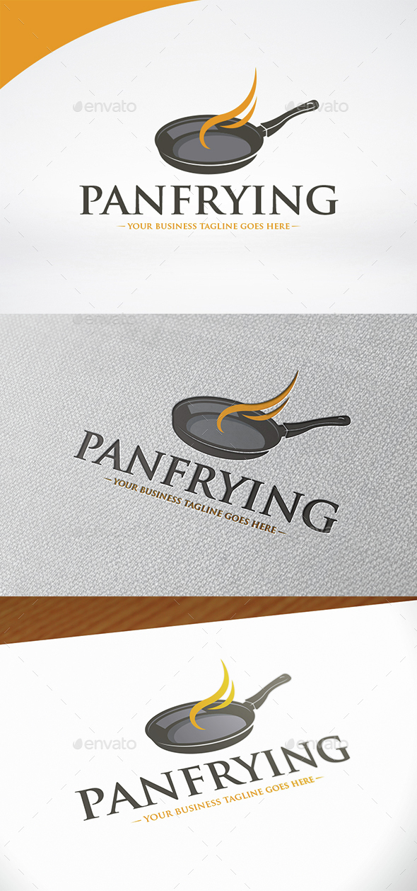 Pan Frying Logo Template - Food Logo Templates