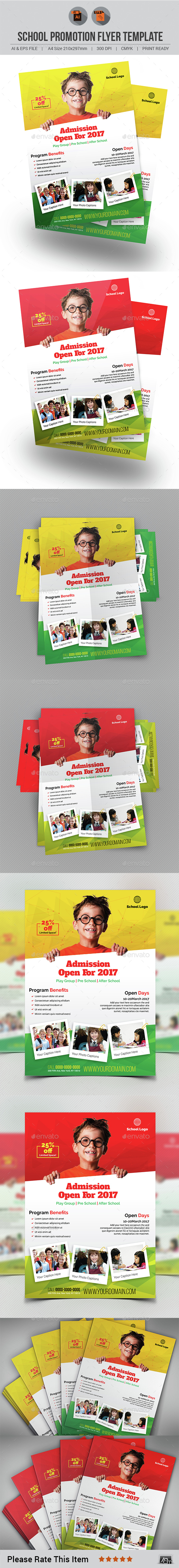 School Promotion Flyer Template - Corporate Flyers