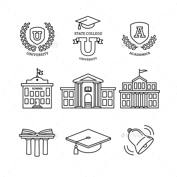Mortar Board, Education, School and University - Buildings Objects
