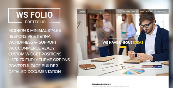 WS Folio – Responsive Portfolio WordPress Theme