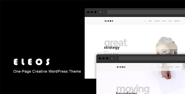 Eleos - One-Page Creative WordPress Theme - Portfolio Creative