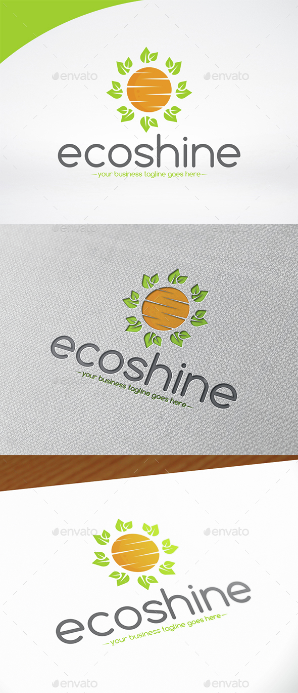 Eco Sun Logo Template - Nature Logo Templates