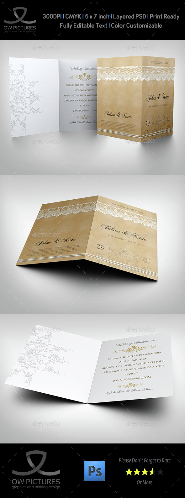 Wedding Invitation Template Vol.15 - Weddings Cards & Invites