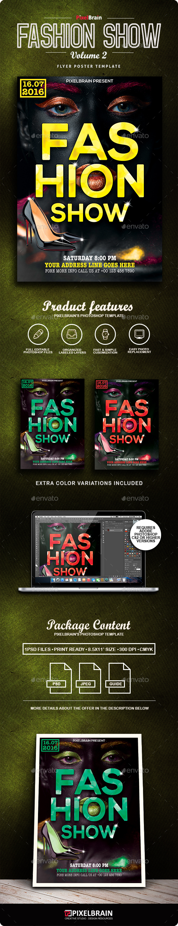 Fashion Show Flyer/Poster Vol. 2 - Flyers Print Templates