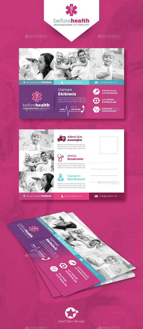 Health Postcard Templates - Cards & Invites Print Templates