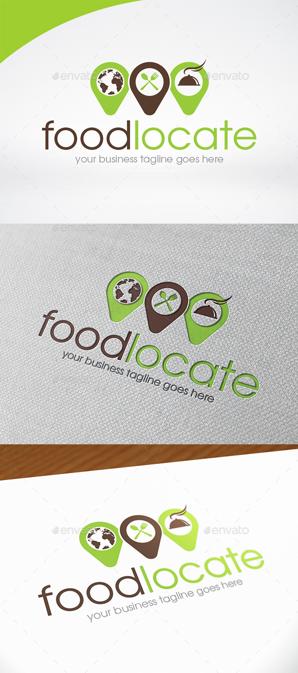 Food Point Logo Template - Food Logo Templates