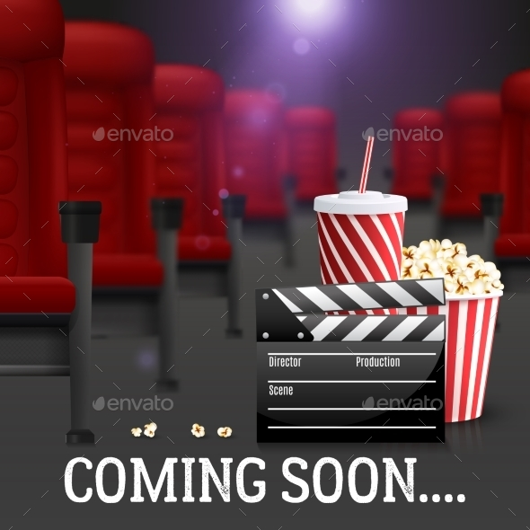 Cinema Background Illustration  - Media Technology